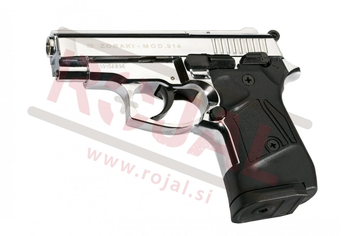 blank pistols u003e blank pistols u003e 914 9mm shiny chrome spletna rh rojal si Zoraki 925 Mod Zoraki Glock