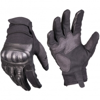 TACTICAL BLACK LEATHER GLOVES; Size XL